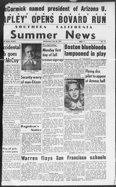 Summer News, Vol. 2, No. 13, July 23, 1947