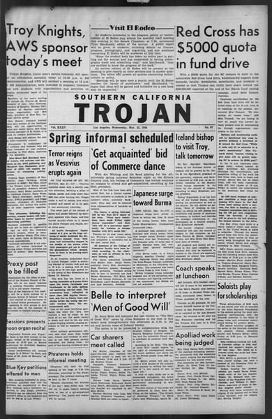 The Trojan, Vol. 35, No. 97, March 22, 1944