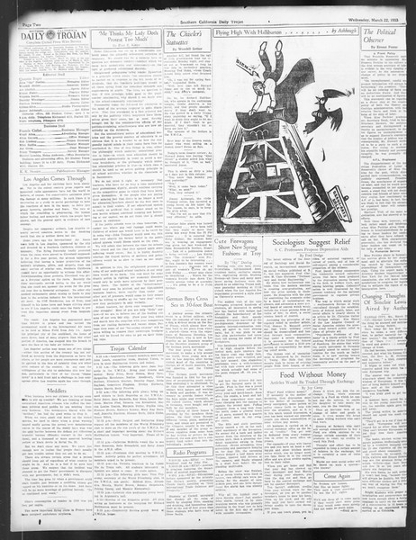 Daily Trojan, Vol. 24, No. 111, March 22, 1933