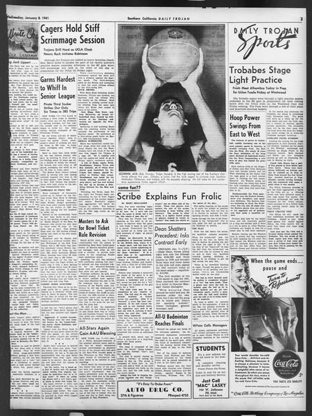 Daily Trojan, Vol. 32, No. 67, January 08, 1941