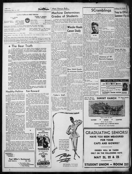 Daily Trojan, Vol. 38, No. 139, May 21, 1947
