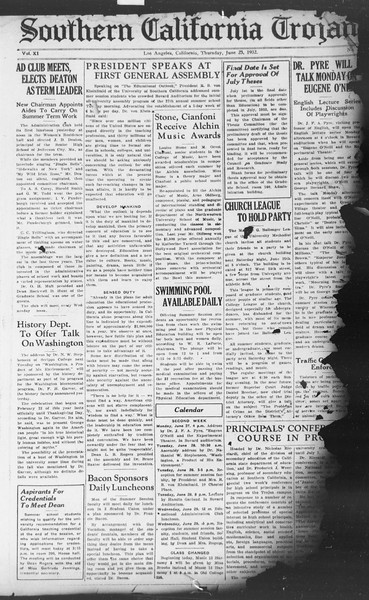 Southern California Trojan, Vol. 11, No. 2, June 23, 1932