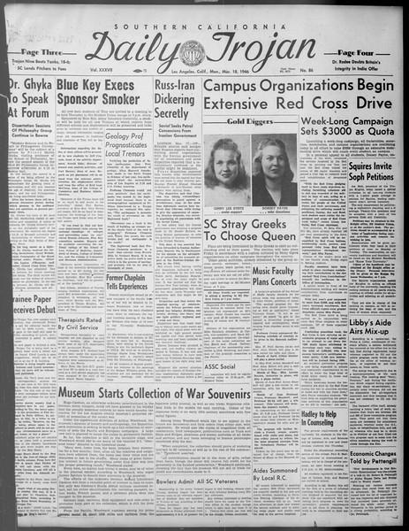 Daily Trojan, Vol. 37, No. 86, March 18, 1946