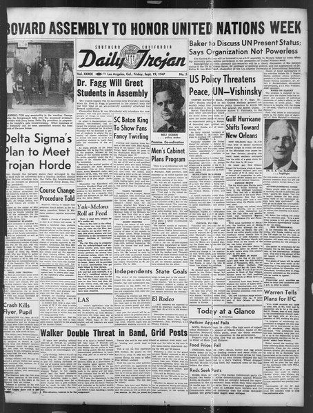 Daily Trojan, Vol. 39, No. 5, September 19, 1947