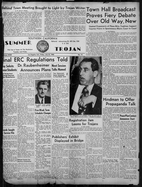 Summer Trojan, Vol. 33, No. 12, July 31, 1942