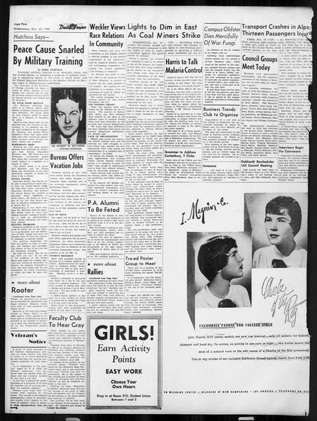 Daily Trojan, Vol. 38, No. 48, November 20, 1946