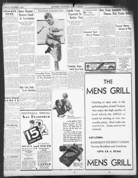 Daily Trojan, Vol. 24, No. 23, October 11, 1932