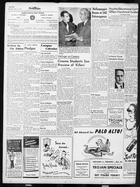 Daily Trojan, Vol. 38, No. 21, October 14, 1946