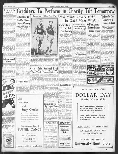 Daily Trojan, Vol. 24, No. 132, April 28, 1933
