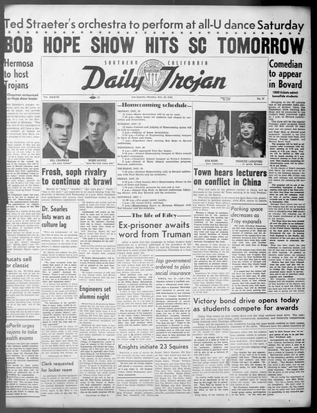 Daily Trojan, Vol. 37, No. 17, November 26, 1945