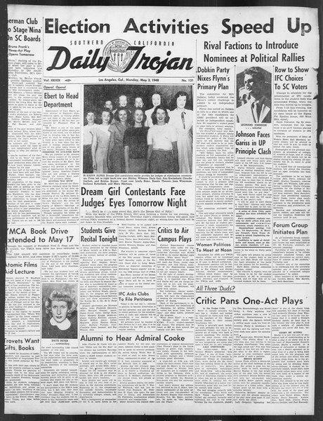 Daily Trojan, Vol. 39, No. 131, May 03, 1948