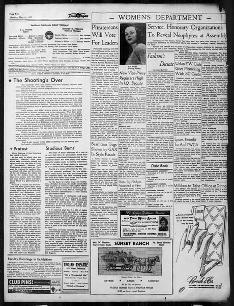 Daily Trojan, Vol. 38, No. 137, May 19, 1947