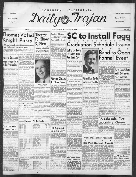 Daily Trojan, Vol. 39, No. 146, May 24, 1948