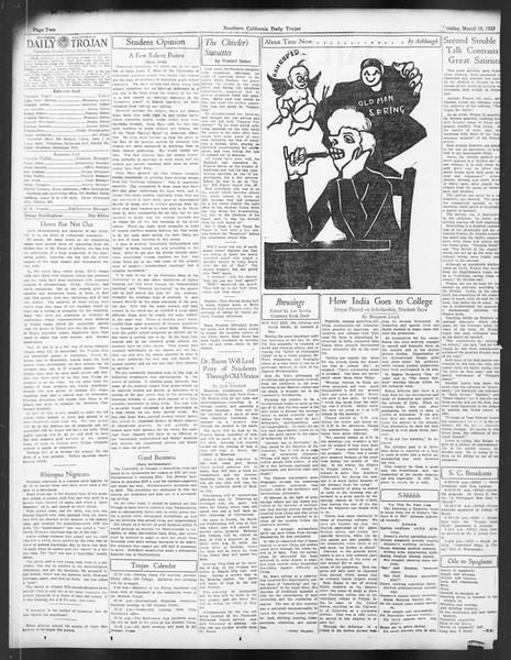 Daily Trojan, Vol. 24, No. 106, March 16, 1933