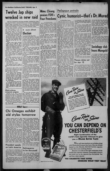 Daily Trojan, Vol. 34, No. 119, April 05, 1943