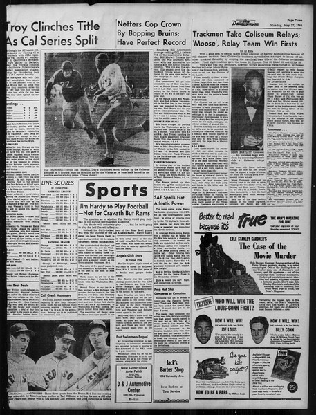 Daily Trojan, Vol. 37, No. 136, May 27, 1946
