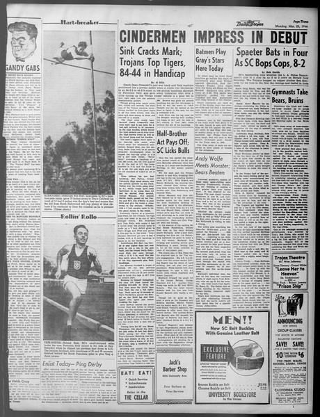 Daily Trojan, Vol. 37, No. 91, March 25, 1946