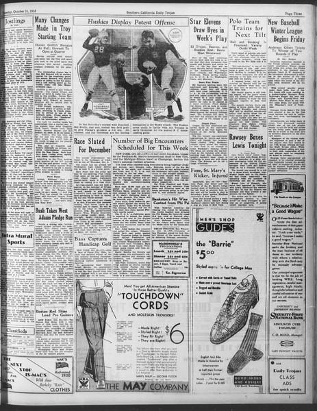 Daily Trojan, Vol. 25, No. 28, October 31, 1933