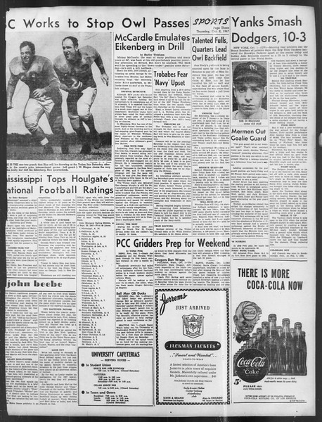 Daily Trojan, Vol. 39, No. 14, October 02, 1947