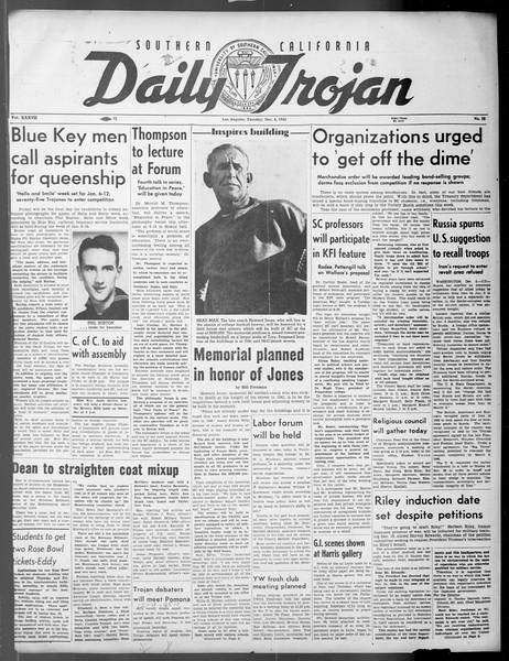 Daily Trojan, Vol. 37, No. 23, December 04, 1945