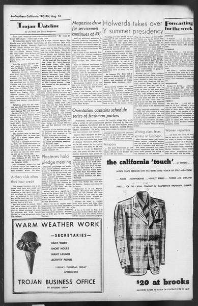 The Trojan, Vol. 35, No. 150, August 14, 1944