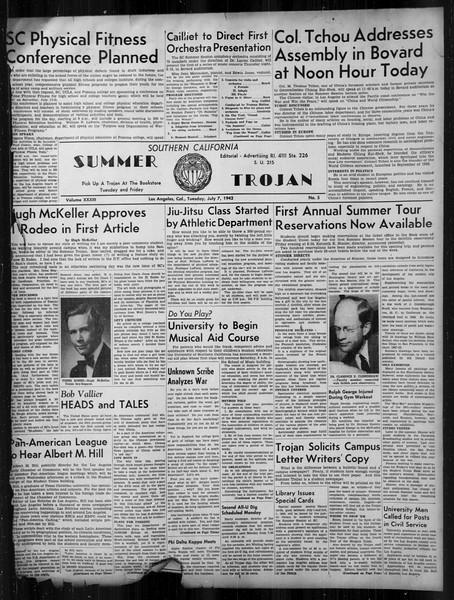 Summer Trojan, Vol. 33, No. 5, July 07, 1942