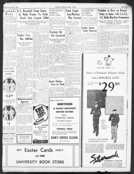 Daily Trojan, Vol. 24, No. 121, April 05, 1933