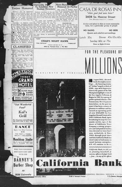 Southern California Trojan, Vol. 12, No. 9, July 21, 1933