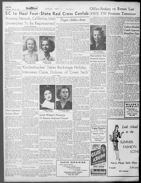Daily Trojan, Vol. 37, No. 119, May 02, 1946