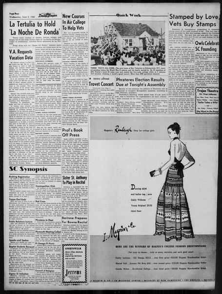 Daily Trojan, Vol. 37, No. 142, June 05, 1946