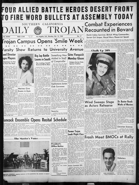 Daily Trojan, Vol. 34, No. 17, October 12, 1942