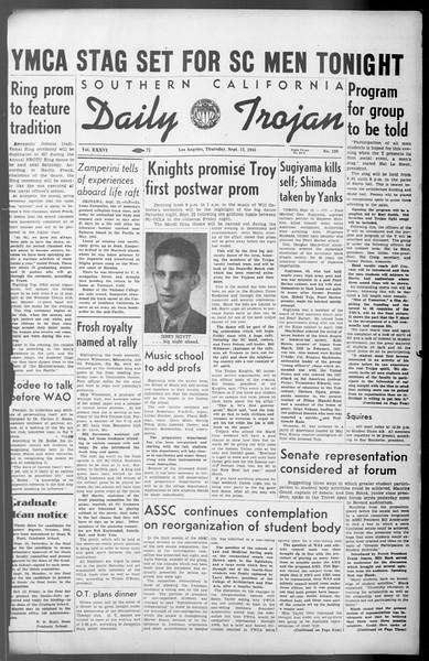 Daily Trojan, Vol. 36, No. 199, September 13, 1945