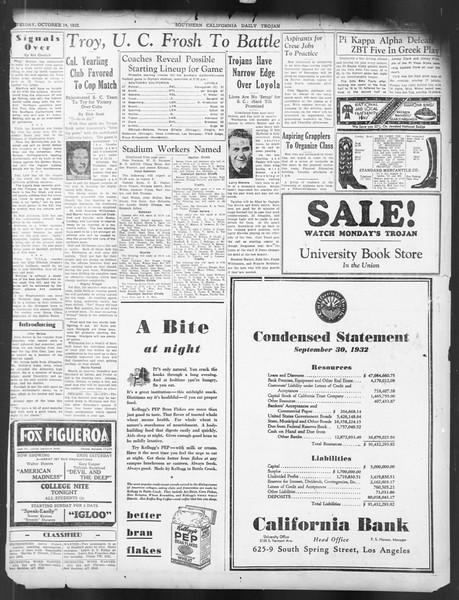 Daily Trojan, Vol. 24, No. 26, October 14, 1932