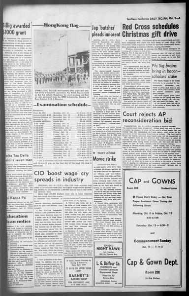 Daily Trojan, Vol. 36, No. 217, October 09, 1945