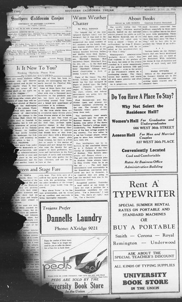 Southern California Trojan, Vol. 11, No. 2, June 23, 1932