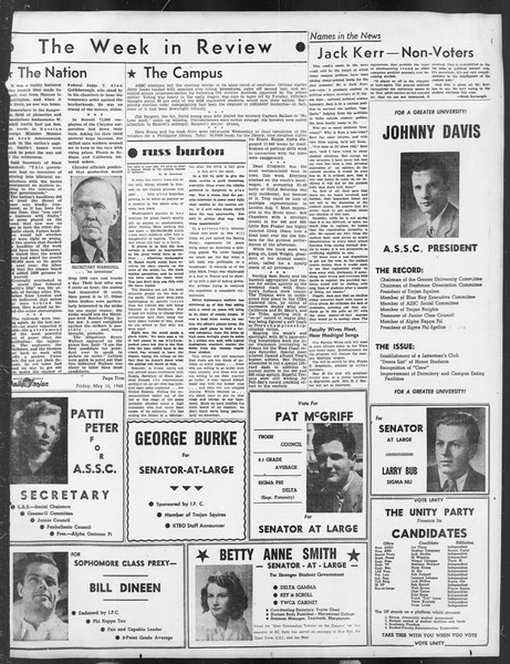 Daily Trojan, Vol. 39, No. 140, May 14, 1948