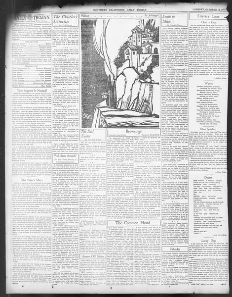 Daily Trojan, Vol. 24, No. 28, October 18, 1932