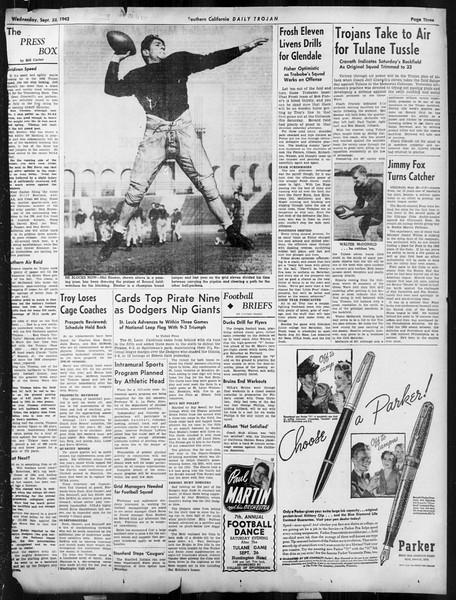 Daily Trojan, Vol. 34, No. 4, September 23, 1942