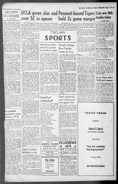 Daily Trojan, Vol. 36, No. 201, September 17, 1945