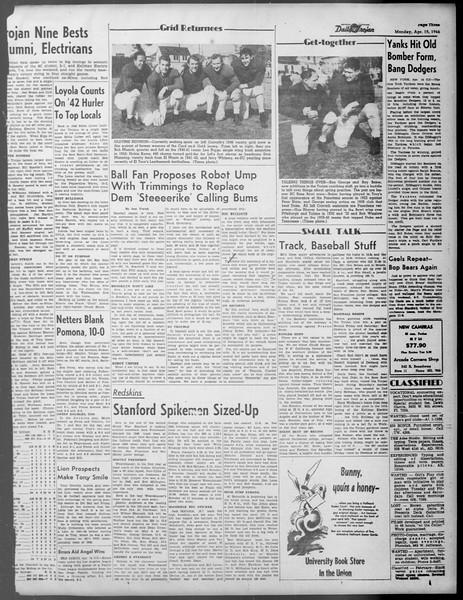 Daily Trojan, Vol. 37, No. 106, April 15, 1946