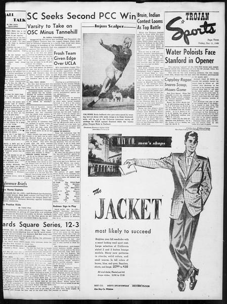 Daily Trojan, Vol. 38, No. 20, October 11, 1946