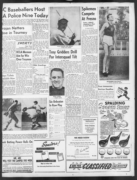 Daily Trojan, Vol. 39, No. 137, May 11, 1948