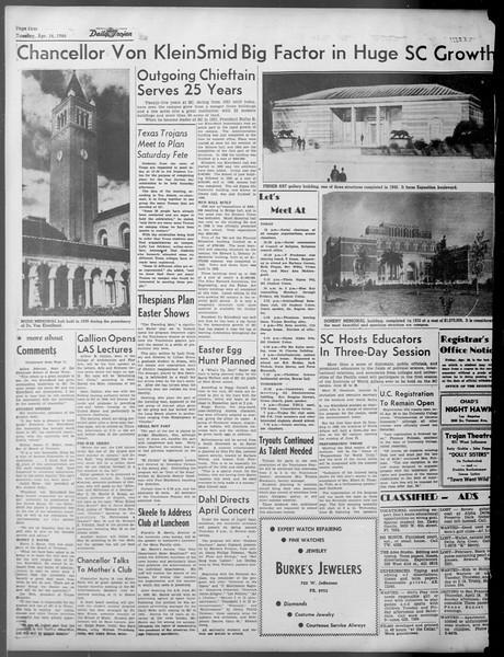 Daily Trojan, Vol. 37, No. 107, April 16, 1946