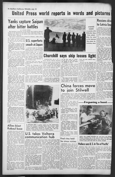 The Trojan, Vol. 35, No. 135, July 10, 1944
