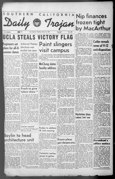 Daily Trojan, Vol. 36, No. 207, September 25, 1945