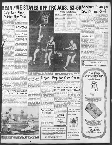 Daily Trojan, Vol. 39, No. 84, February 23, 1948