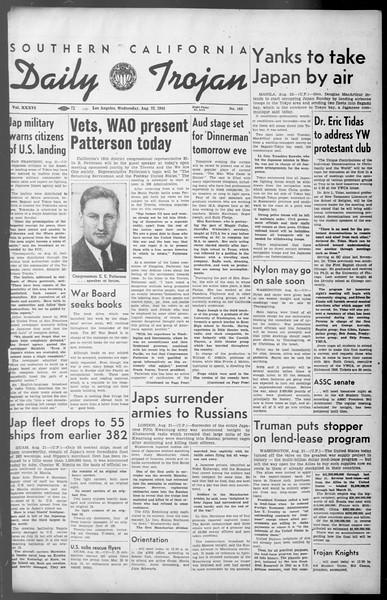Daily Trojan, Vol. 36, No. 183, August 22, 1945
