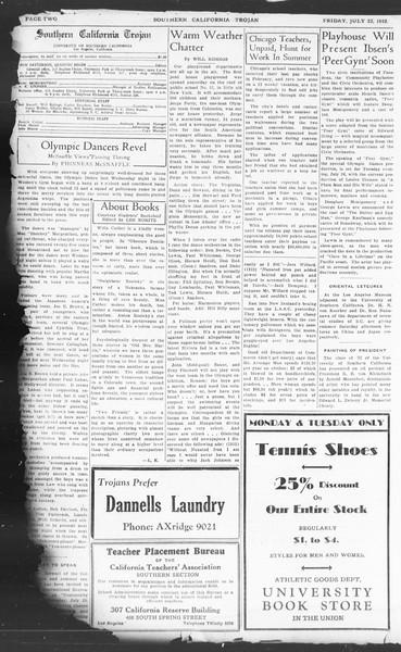 Southern California Trojan, Vol. 11, No. 10, July 22, 1932
