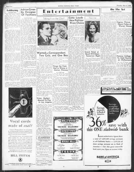 Daily Trojan, Vol. 24, No. 141, May 11, 1933