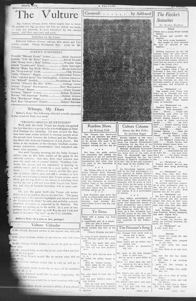 Vulture, Vol. ??, No. 1, October 26, 1932